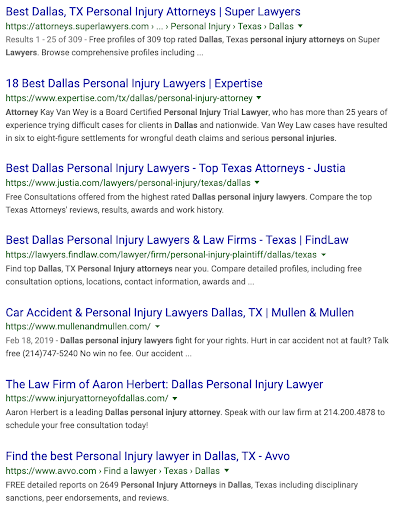 "Search results for ""Dallas Car Accident Lawyer"""